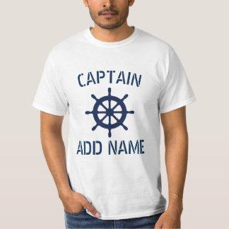 T-shirts personnalisés de roue de bateau de nom de