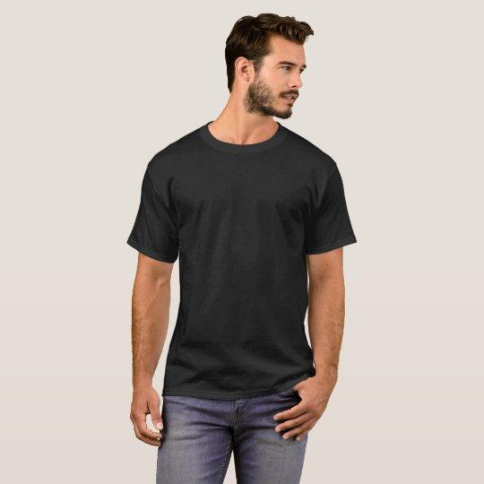 T-shirt foncé basique pour homme, Noir