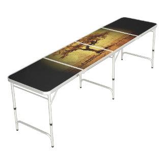 Table Beerpong Arbre rustique