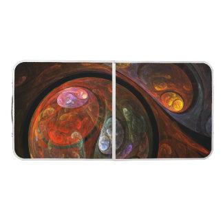Table Beerpong Art abstrait de connexion liquide