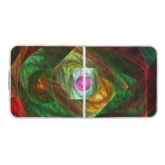 Table Beerpong Art abstrait de connexions dynamiques