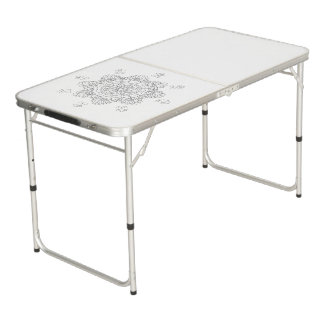 Table Beerpong Beau mandala de vecteur, élément modelé de