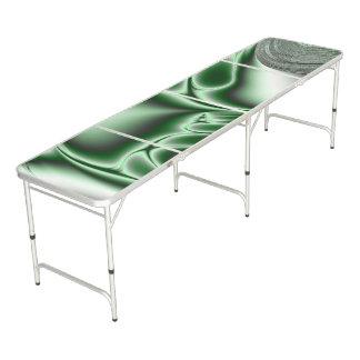 Table Beerpong Fractale verte de floraison