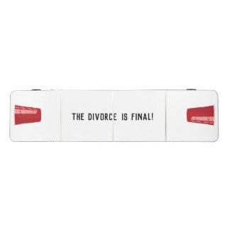 Table Beerpong Le divorce est Tableau final de puanteur de bière