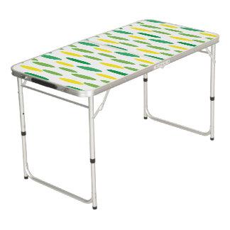 Table Beerpong motif de pois vert pour la partie
