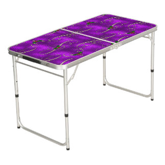 Table Beerpong Remous lilas romantiques de Noël