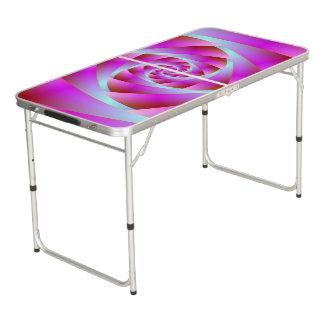 Table Beerpong Une torsion de bleu et de rose
