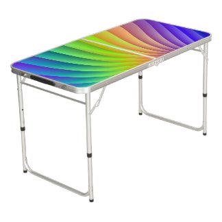 Table Beerpong Vague de couleur