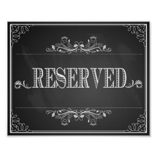 Table réservée de tableau de signe de mariage