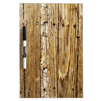 Tableau blanc en bois rustique de Planking de Tableau Effaçable À Sec