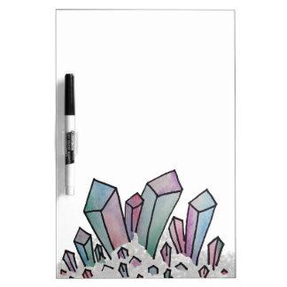 Tableau blanc en cristal de groupe d'aquarelle en