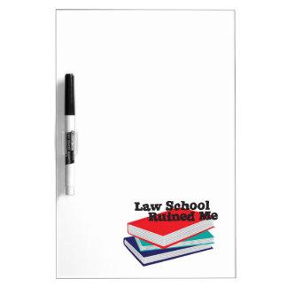 Tableau blanc - l'école de droit m'a ruiné