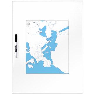 Tableau blanc méditerranéen de carte tableau effaçable à sec