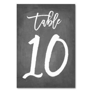 Tableau chic 10 du numéro | de Tableau de tableau
