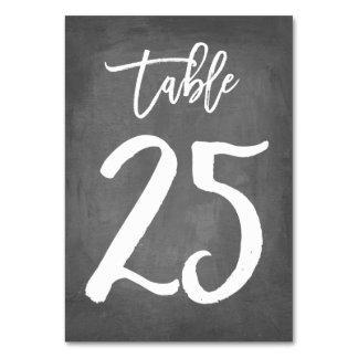 Tableau chic 25 du numéro | de Tableau de tableau