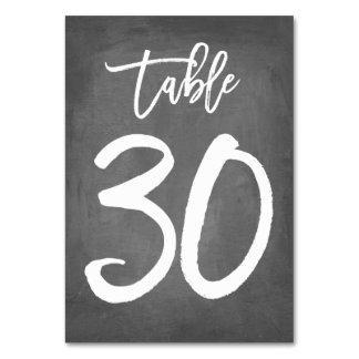 Tableau chic 30 du numéro | de Tableau de tableau