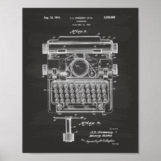 Tableau d'art de brevet de la machine à écrire
