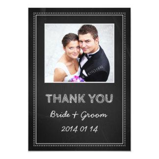 Tableau de cartes photos de Merci de mariage Carton D'invitation 12,7 Cm X 17,78 Cm