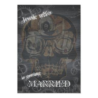 Tableau de crâne de Steampunk Carton D'invitation 12,7 Cm X 17,78 Cm