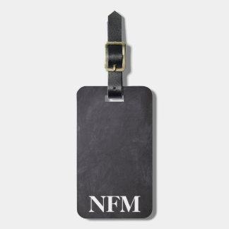 Tableau de gris de voyage de monogramme étiquette à bagage