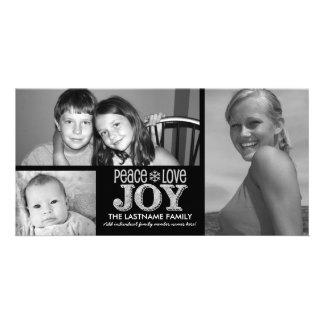 Tableau de joie d'amour de paix - 3 photos photocartes