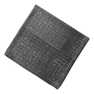 Tableau de tableau noir de symboles d'alchimie de bandana