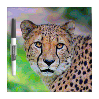 Tableau Effaçable À Sec AnimalPaint_Cheetah_20171201_by_JAMColors