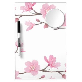 Tableau Effaçable À Sec Avec Mirroir Fleurs de cerisier - arrière - plan transparent