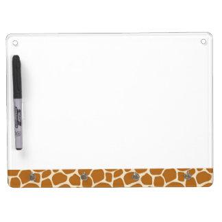 Tableau Effaçable À Sec Avec Porte-clés Conseil sec d'effacement d'impression de girafe