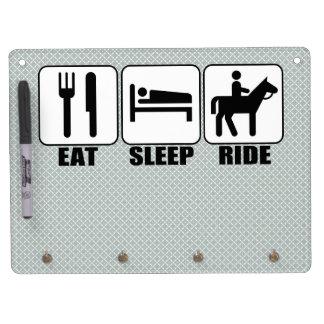 Tableau Effaçable À Sec Avec Porte-clés Mangez le tour de sommeil un cavalier de Horseback