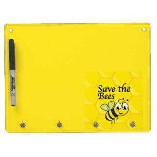 Tableau Effaçable À Sec Avec Porte-clés Sauvez les abeilles