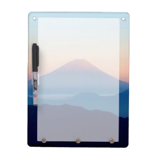 Tableau Effaçable À Sec Belle vue le mont Fuji, Japon, lever de soleil