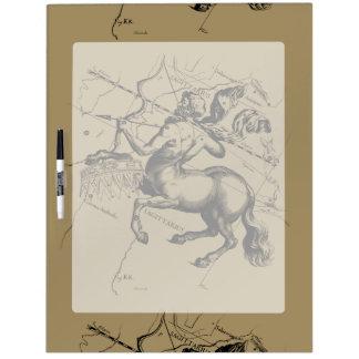 Tableau Effaçable À Sec Carte de constellation de Sagittaire gravant