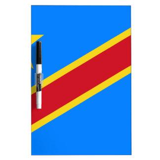Tableau Effaçable À Sec Coût bas ! Drapeau du Congo