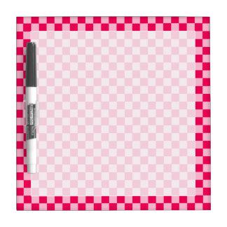 Tableau Effaçable À Sec Damier classique de combinaison rose par STaylor