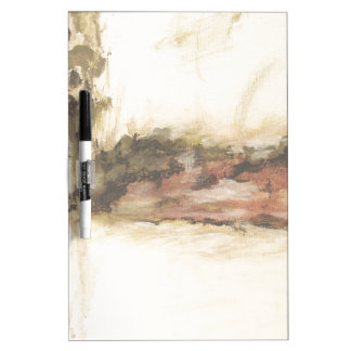 Tableau Effaçable À Sec L'art ambigu et abstrait de paysage s'égoutte la