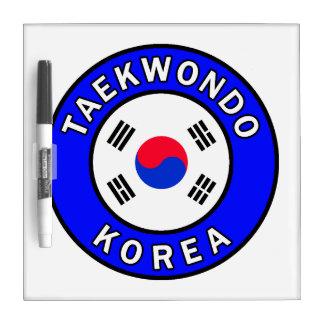 Tableau Effaçable À Sec Le Taekwondo