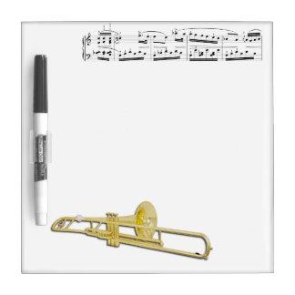 Tableau Effaçable À Sec Le trombone (valve) sèchent le conseil