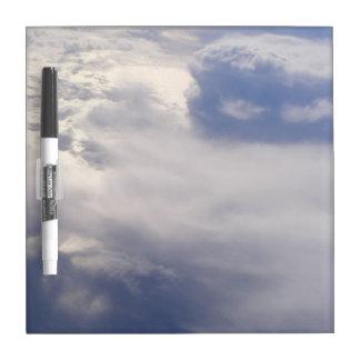 Tableau Effaçable À Sec Les nuages sèchent le conseil d'effacement