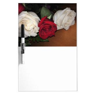 Tableau Effaçable À Sec Les roses sèchent le conseil d'effacement