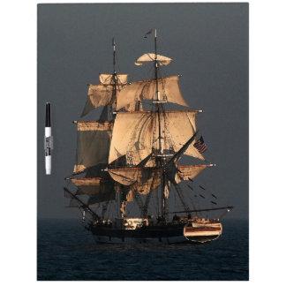 Tableau Effaçable À Sec Mer grande d'océan de bateau de bateau de tondeuse