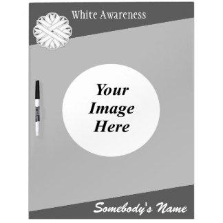 Tableau Effaçable À Sec Modèle de ruban de fleur blanche