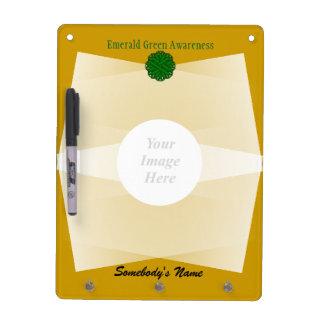 Tableau Effaçable À Sec Modèle de ruban de fleur de vert vert