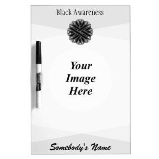Tableau Effaçable À Sec Modèle noir de ruban de fleur