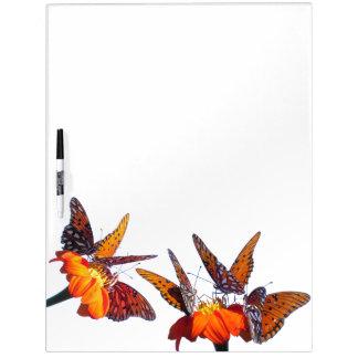Tableau Effaçable À Sec Panneau de fleur de tournesol de papillons de