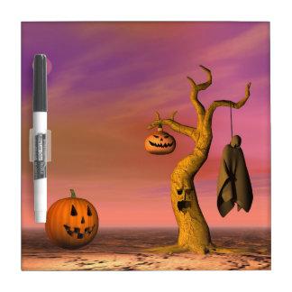 Tableau Effaçable À Sec Paysage de Halloween