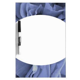 Tableau Effaçable À Sec Photo grise bleu-clair sensible de fleur de roses