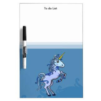 Tableau Effaçable À Sec Puissance heureuse de licorne