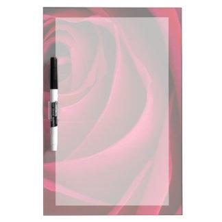 Tableau Effaçable À Sec Rose rouge de fleur