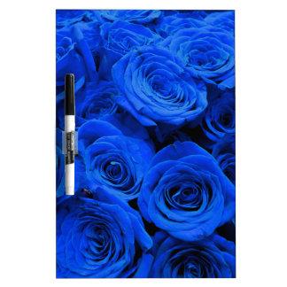 Tableau Effaçable À Sec Roses bleus